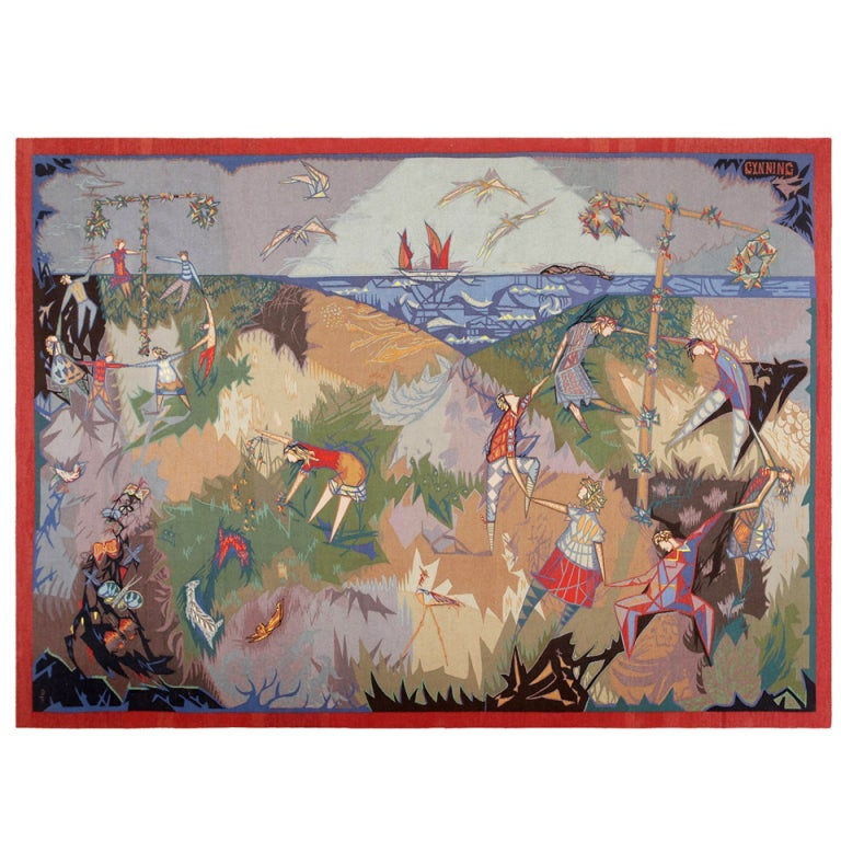 Vintage Tapestry by Pinton Freres Gynning Mid Summer Dance