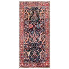 Beautiful Antique Blue Background Persian Bidjar Carpet