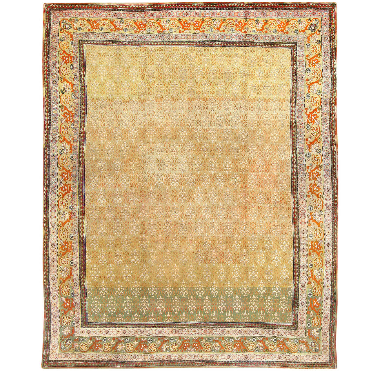 Gorgeous Antique Indian Agra Rug For Sale At 1stdibs