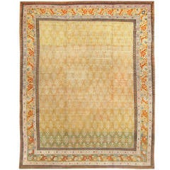 Gorgeous Antique Indian Agra Rug