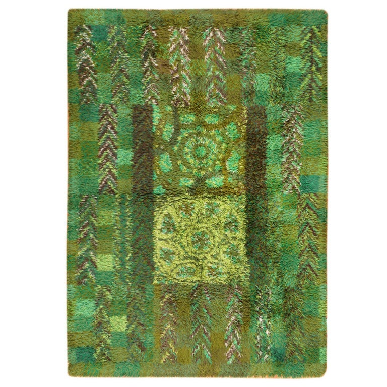 Vintage Swedish Rya Rug By Marianne Richter Ovralid At 1stdibs
