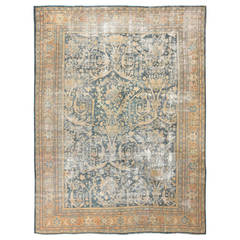 """Antique """"Shabby Chic"""" Persian Sultanabad Rug"""