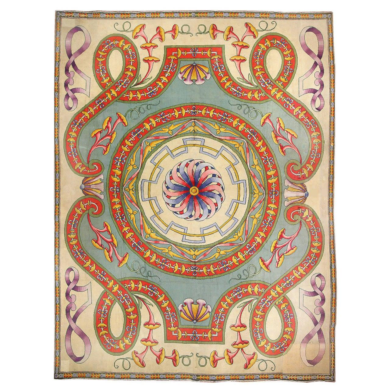 Funky Oversized Spanish Art Deco Carpet 1