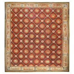 Large Oversized Square Antique French Aubusson Rug. Size: 17 ft x 18 ft 5 in