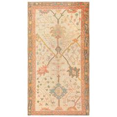 Antique Decorative Turkish Oushak Rug