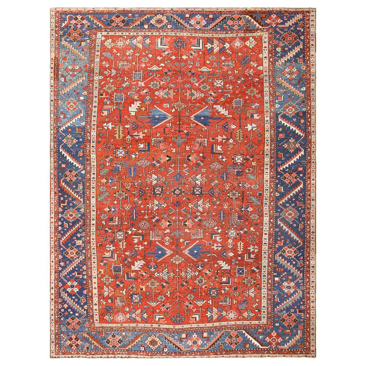 Antique Persian Heriz Rug Bb2402: Antique Persian Heriz Serapi Rug At 1stdibs