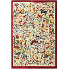 Vintage Ecuadorian Animal Carpet