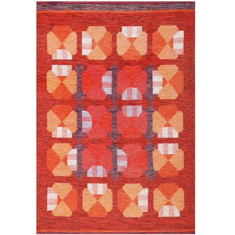 Vintage Finnish Carpet by Alestalon Mattokutomo For Sale