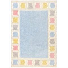 Vintage Swedish Carpet by Birgitta Söderkvist. Size: 5 ft 5 in x 7 ft 9 in