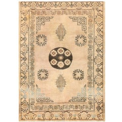 Antique Khotan Carpet from East Turkestan