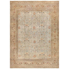 Sky Blue Antique Khorassan Persian Carpet