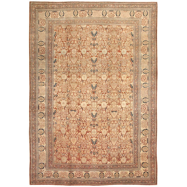 Antique Persian Haji Jalili Tabriz Carpet