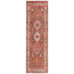 Rare Antique Caucasian Kazak Runner