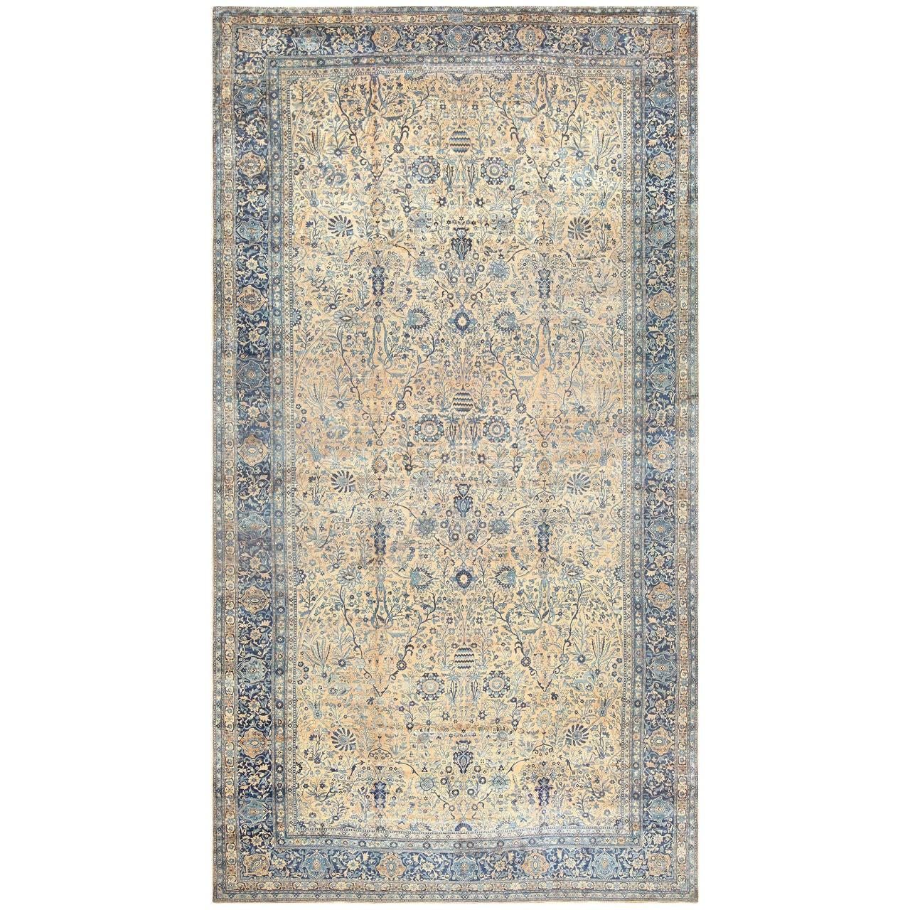 Fine Antique Oversized Vase Design Persian Kerman Carpet For