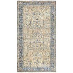 Fine Antique Oversized Vase Design Persian Kerman Carpet