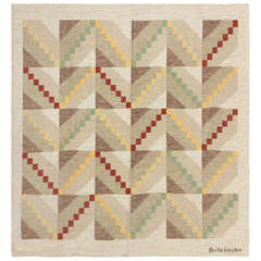 Vintage Mid-Century Modern Swedish Scandinavian Carpet by Brita Grahn