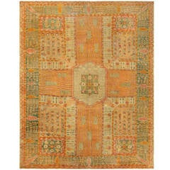 Beautiful Room Sized Antique Turkish Oushak Carpet