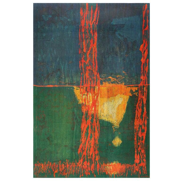 """Night Mirror"" by Brita Molin Vintage Scandinavian Carpet For Sale"