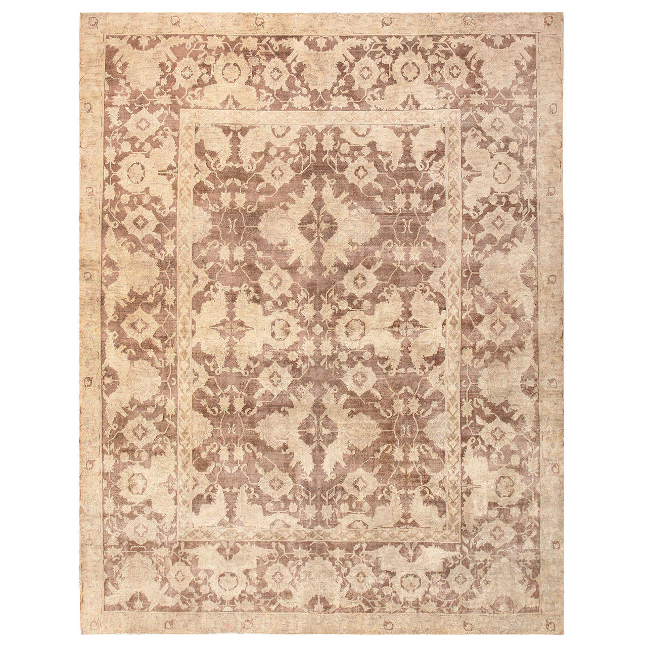 Antique Indian Agra Rug For Sale At 1stdibs: Antique Room Sized Indian Agra Rug For Sale At 1stdibs