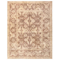 Antique Room Sized Indian Agra Rug