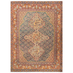 Gorgeous Antique Marbediah Israeli Carpet with Animal Motif