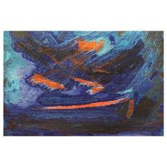 """""""Was At Sea"""" by Brita Molin Vintage Scandinavian Carpet."""