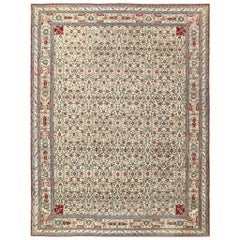 Room Sized Antique Indian Agra Rug. Size: 8 ft 10 in x 11 ft 6 in