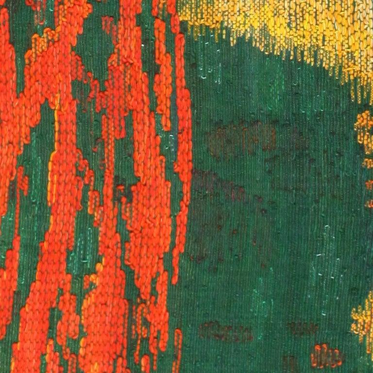 "Scandinavian Modern ""Night Mirror"" by Brita Molin Vintage Scandinavian Carpet For Sale"