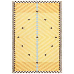 Yellow and Gold Vintage Scandinavian Rug