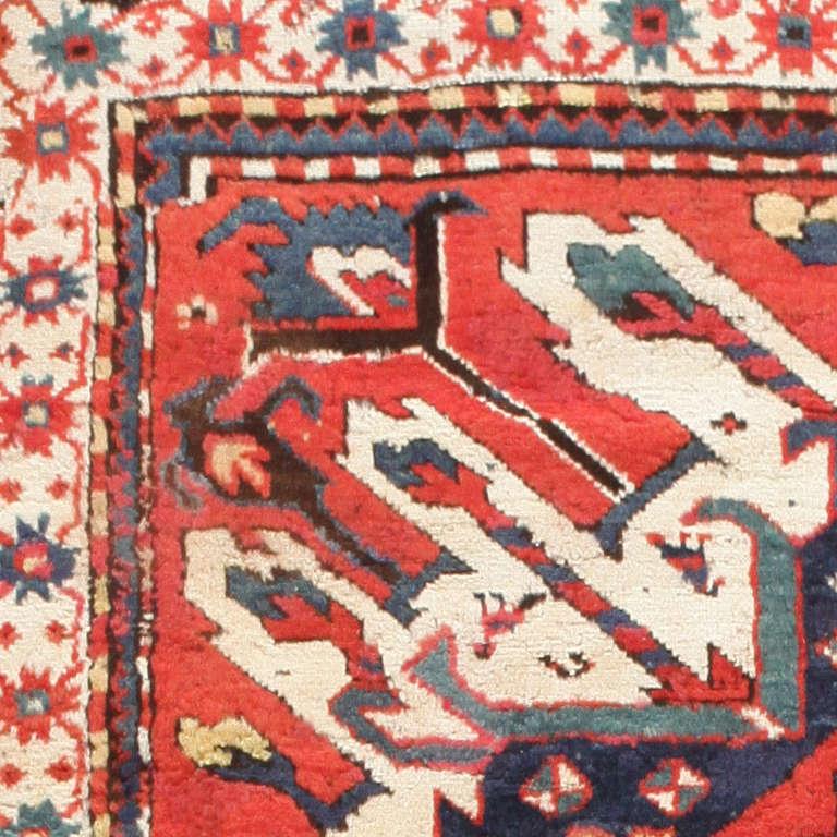 Rustic Rugs Topeka Ks: Antique Eagle Kazak Rug For Sale At 1stdibs