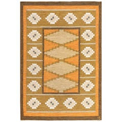 Vintage Swedish Kilim by Ingegerd Silow