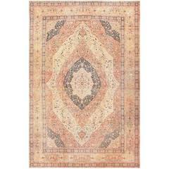 Antique Oversized Tabriz Persian Carpet by Haji Jalili