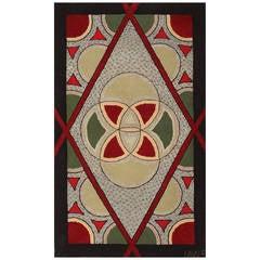 Art Deco American Hooked Rug