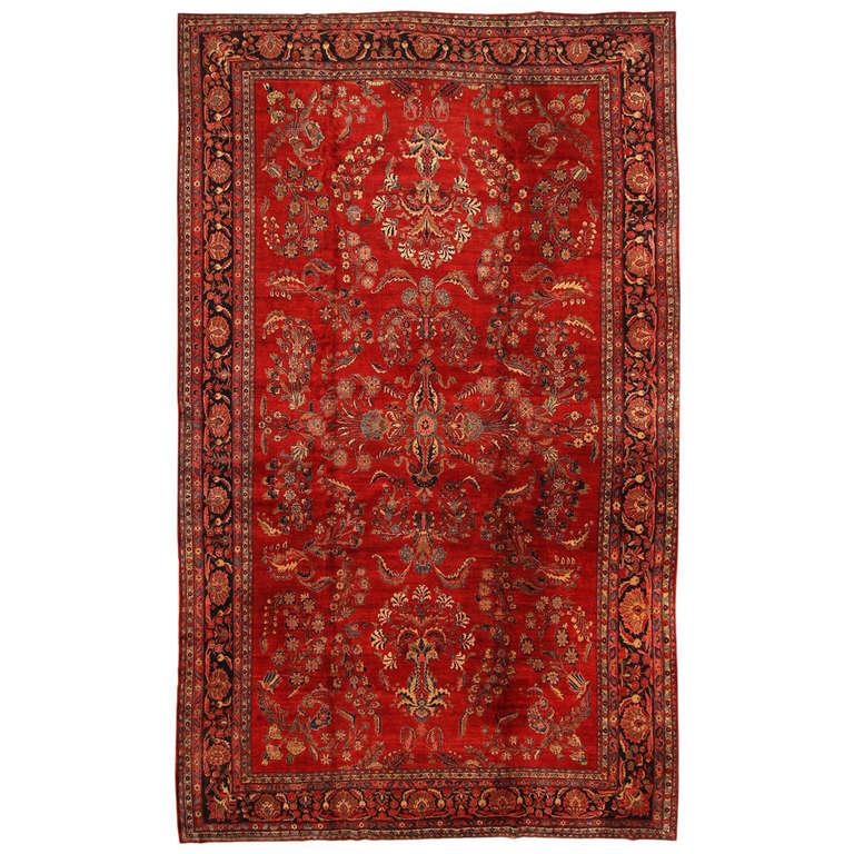 Antique Sarouk Persian Rug At 1stdibs