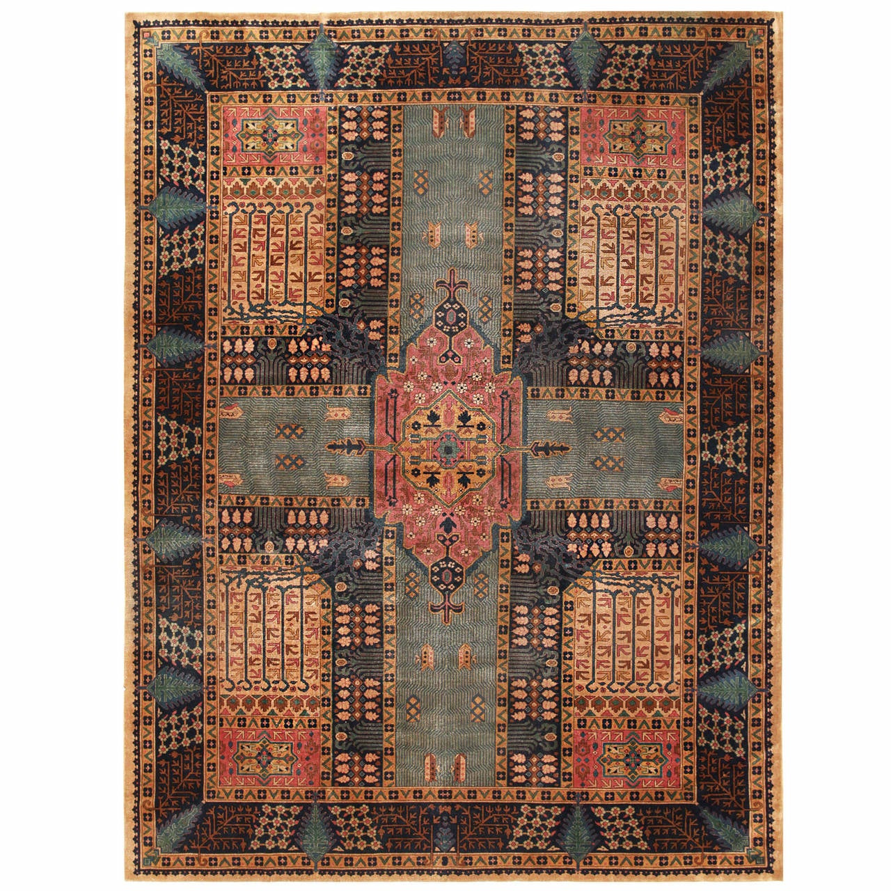 Room-Sized Antique Indian Carpet At 1stdibs