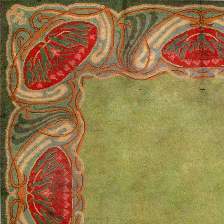 Art Nouveau Irish Donegal Rug Carpet At 1stdibs