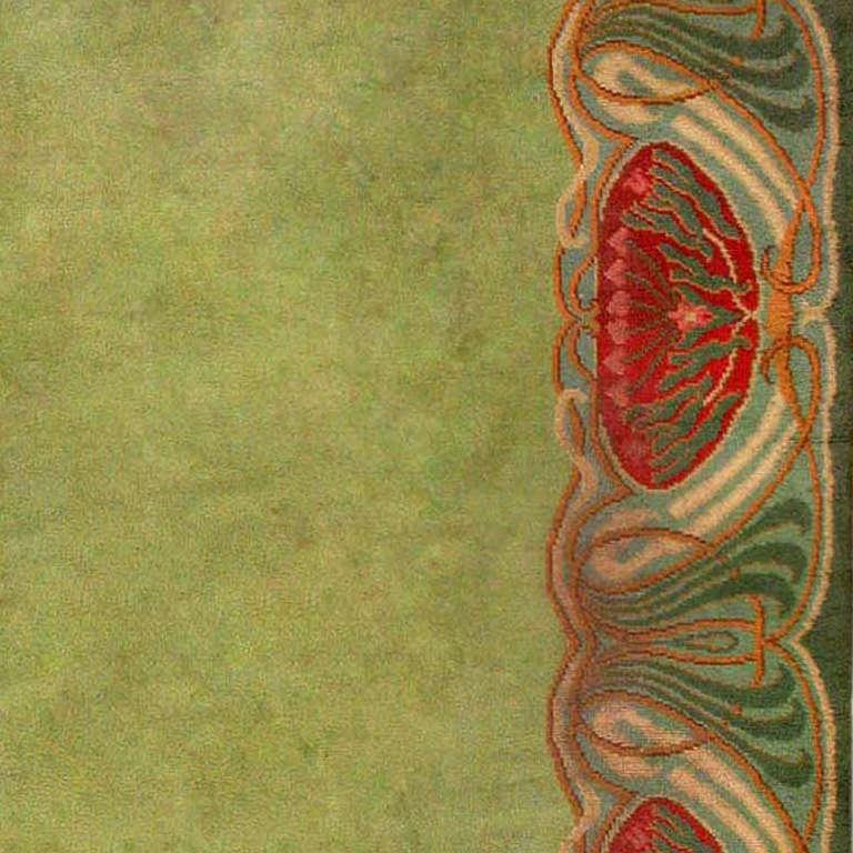 Art Nouveau Irish Donegal Rug Carpet At 1stdibs
