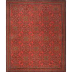 Antique Arts and Crafts English Wilton Carpet
