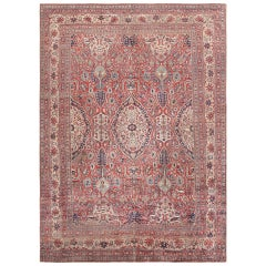 Fine Antique Persian Silk Heriz Carpet
