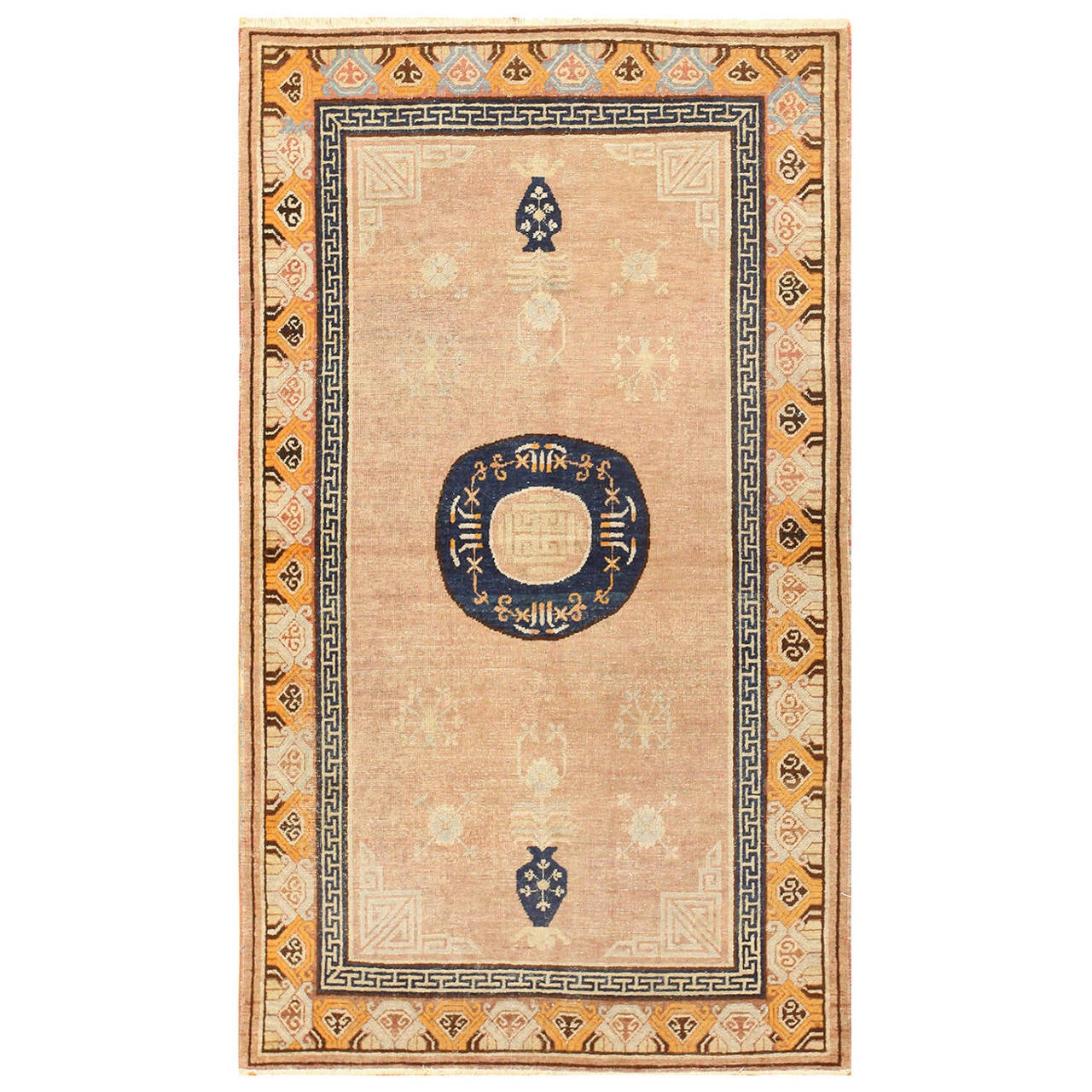 Antique Khotan Rug from East Turkestan