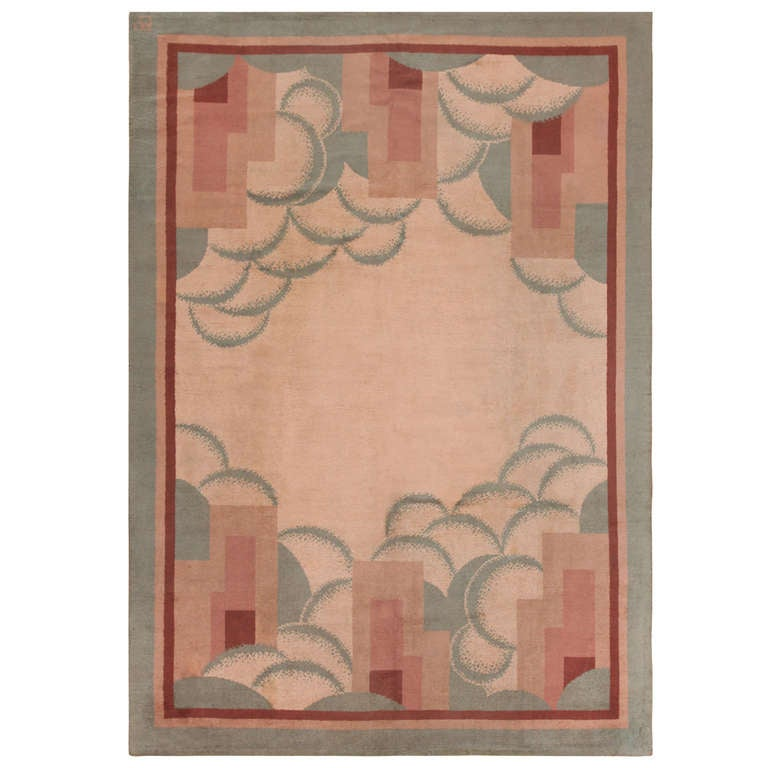 French art deco rug for sale at 1stdibs for Deco rugs carpet