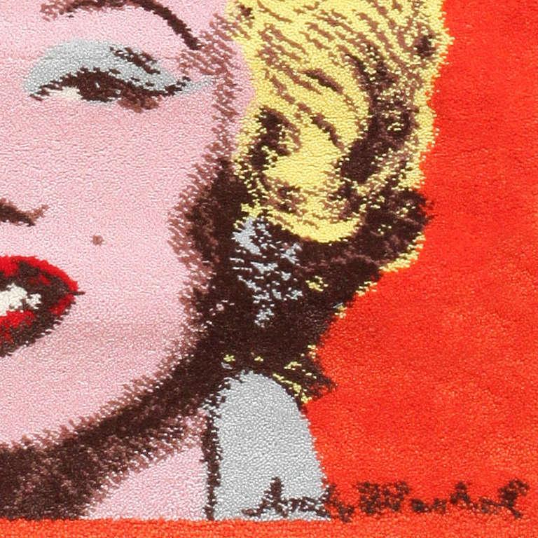Ege Art Line Rug: Ege Art Rug Of Marilyn Monroe By Andy Warhol At 1stdibs