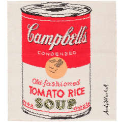 Vintage Andy Warhol Campbell Soup Rug