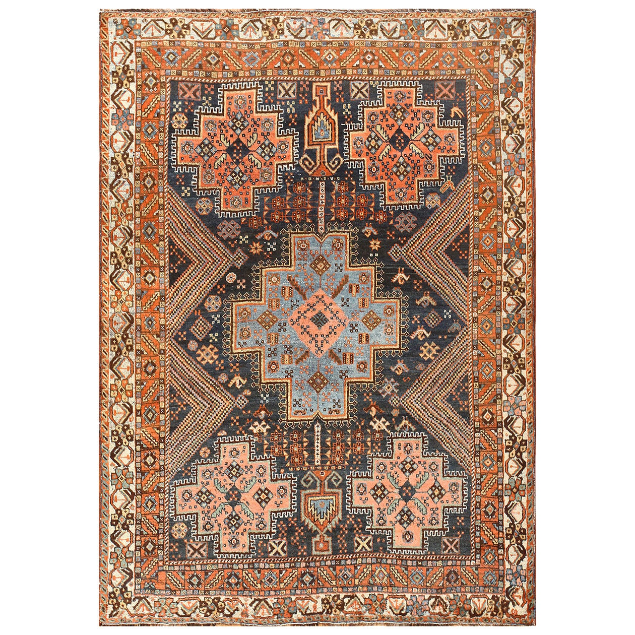 Persian Tribal Rugs: Tribal Antique Persian Ghashgai Rug At 1stdibs