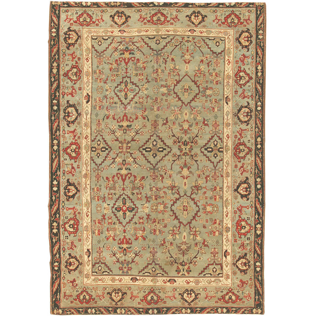 Antique Indian Agra Rug For Sale At 1stdibs: Lovely Antique Indian Agra Rug For Sale At 1stdibs