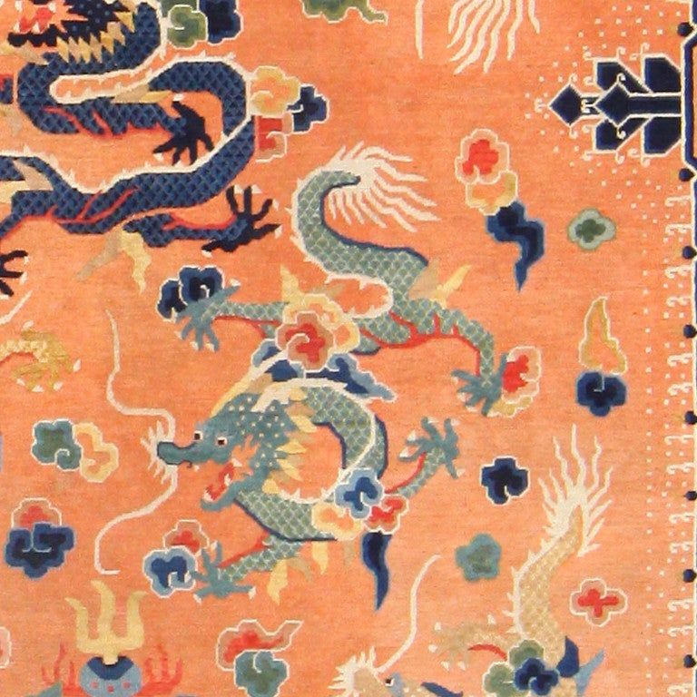 Antique Chinese Dragon Carpet At 1stdibs