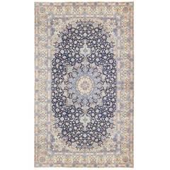 Extra Large Vintage Persian Nain Carpet
