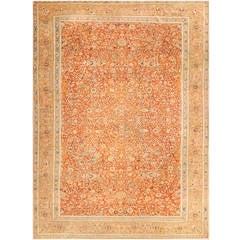 Antique Persian Tabriz Haji Jalili Carpet