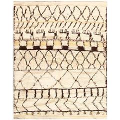 Vintage Square Size Moroccan Rug