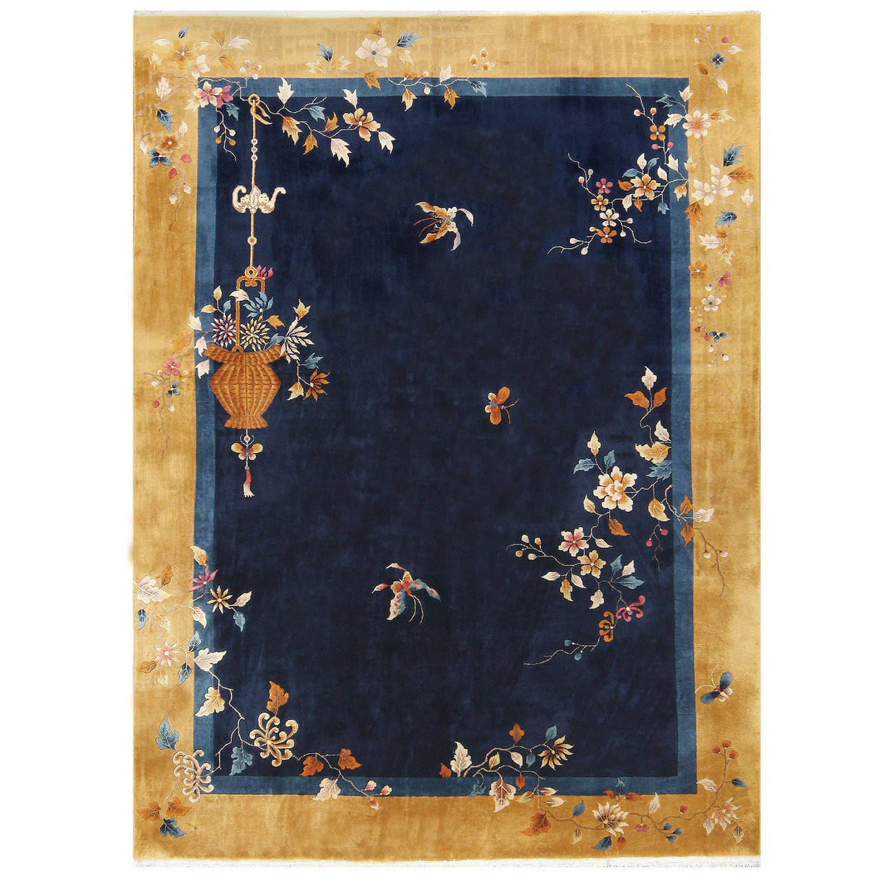 Beautiful Room Sized Antique Chinese Carpet At 1stdibs